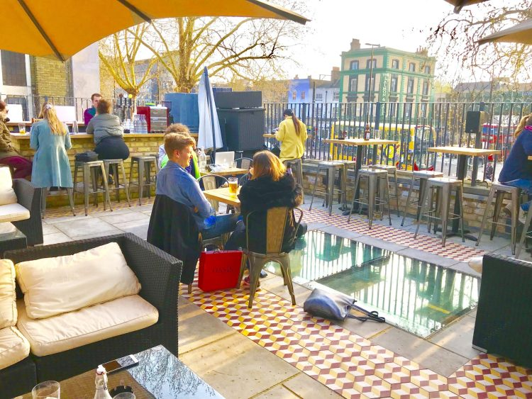Rooftop bar in Bethnal Green