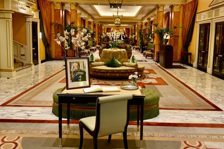 Dorchester Hotel tribute to Prince Phillip