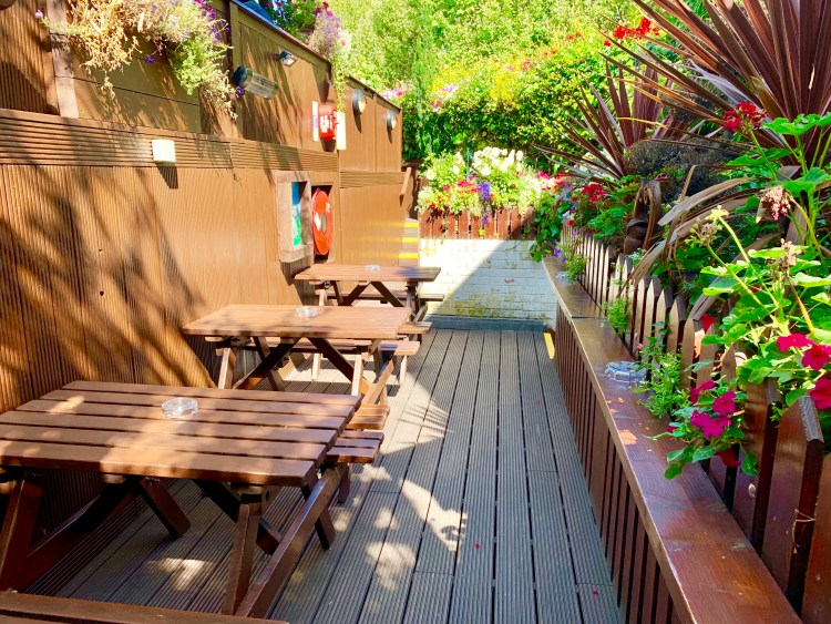 Faltering Fallback Pub rooftop garden