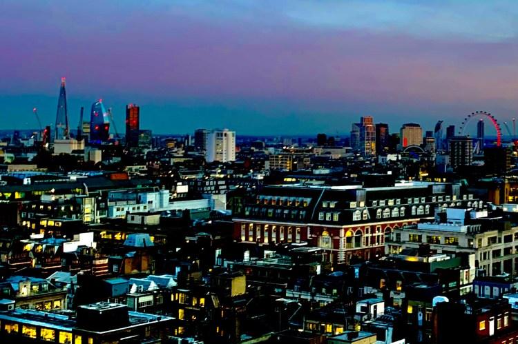 views over Oxford street london