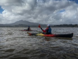On the water with Mt Tamalpais in the background