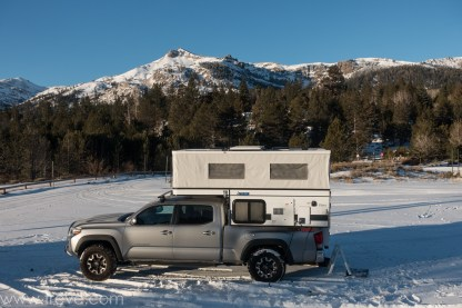 Camping at the Hope Valley Sno Park.