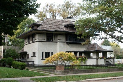 Edward R. Hills House. 1906. (Originally build in 1876, relocated and remodeled by FLW in 1906.