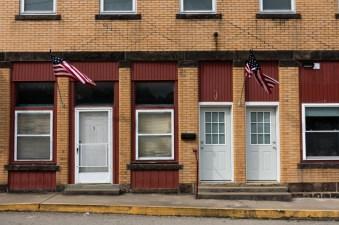 Flags and doors. Dunbar.