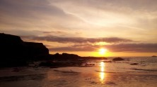Sunset, Treyarnon Bay