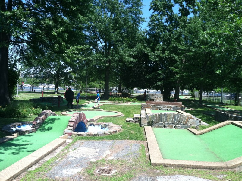 Teeing Up At The Miniature Golf Course On Hains Point   Where the     The East Potomac Golf
