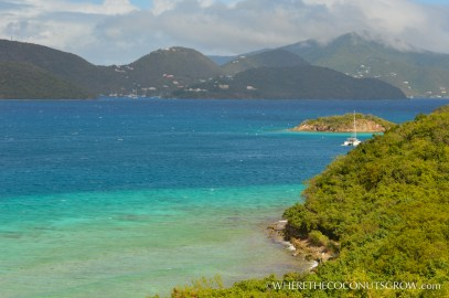 View of Waterlemon Cay with West End Tortola in the distance