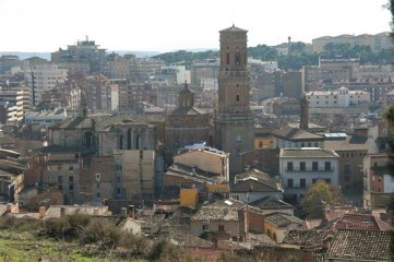 Looking down to the Cathedral in Tudela
