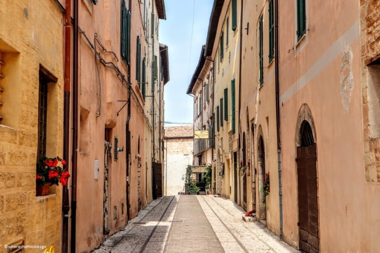 Streets of Trevi, Umbria