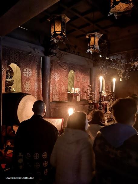 Koyasan - preghiera del mattino e rituale del fuoco Goma