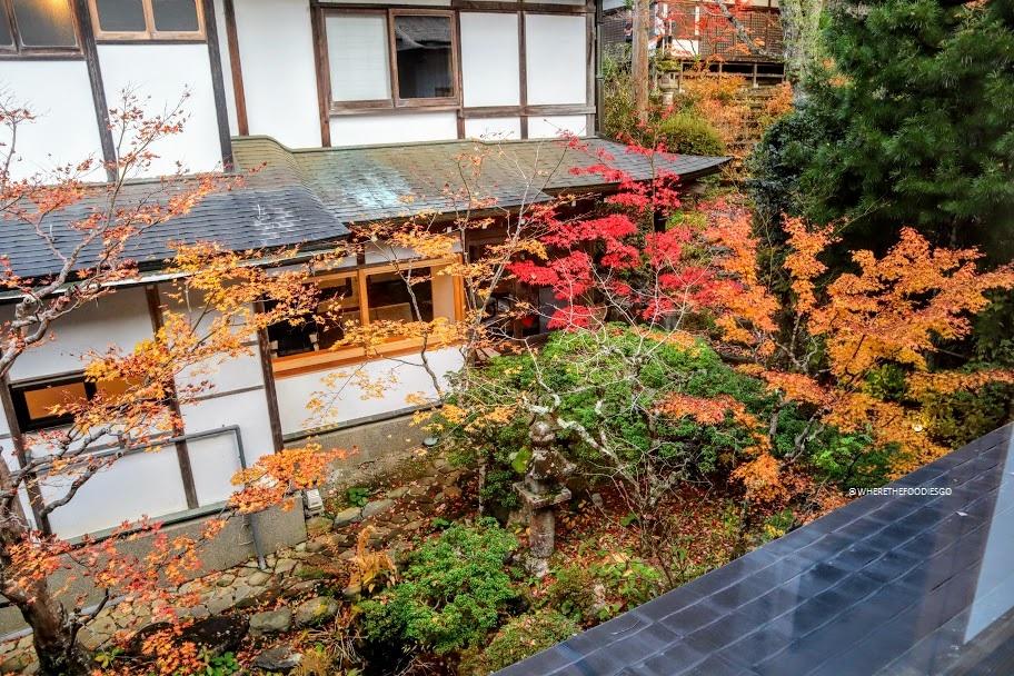 La vista dalla nostra stanza nel tempio Ekoin - Koyasan