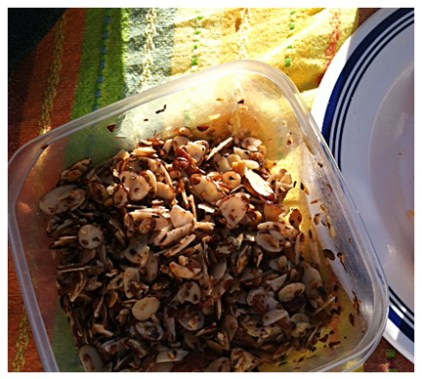 spicy sweet toasted almonds
