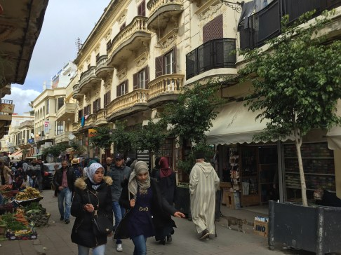 Beautiful colonial architecture in Tangier's old city