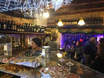 Cicchetti ready for ordering at Osteria al Squero