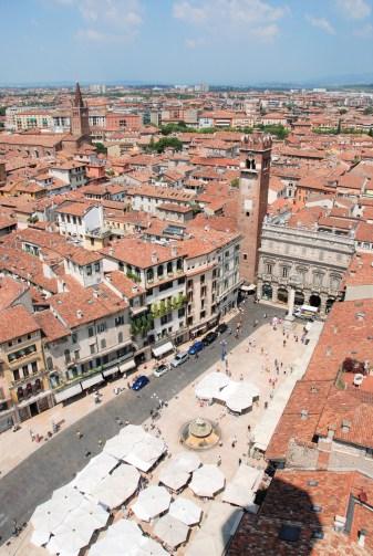 Views from Torre dei Lamberti