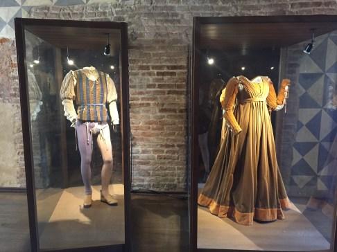 Romeo & Juliet movie costumes on display at Casa di Giulietta