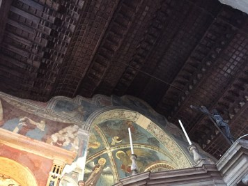 Chiesa di San Fermo's wooden ceiling