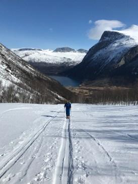 Skinning up from Skjomen fjord