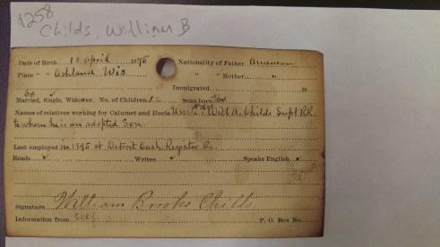 Calumet & Hecla Mining Company employee record