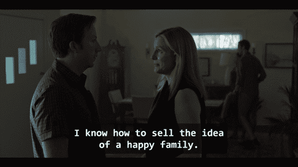 Sam (Kevin L. Johnson) and Wendy (Laura Linney) in Ozark