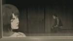 Majima looking out of the window as Sako looks towards the floor.