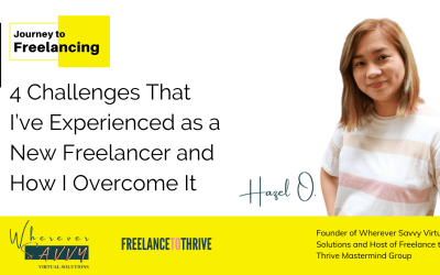 4 Challenges That I've Experienced as a New Freelancer and How I Overcome It