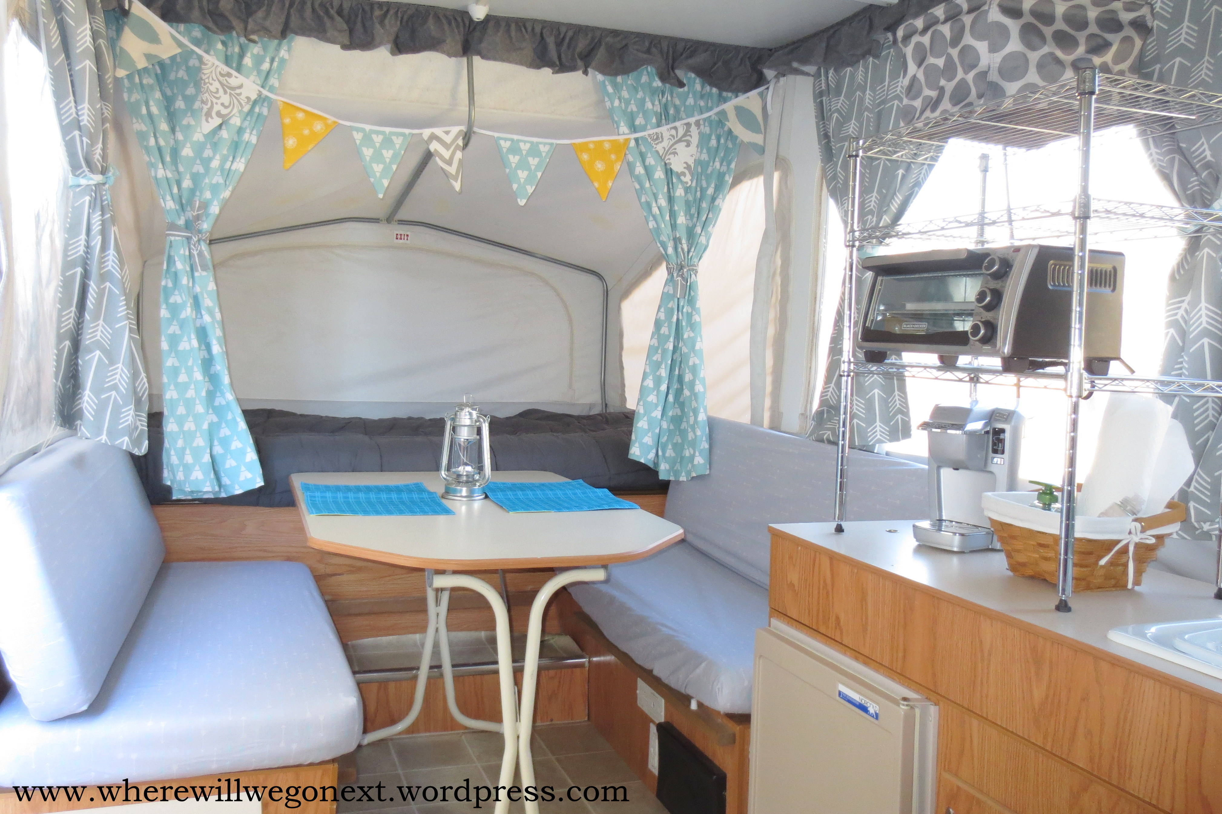 Pop Up Camper Remodel Curtains And Cushion Covers Where