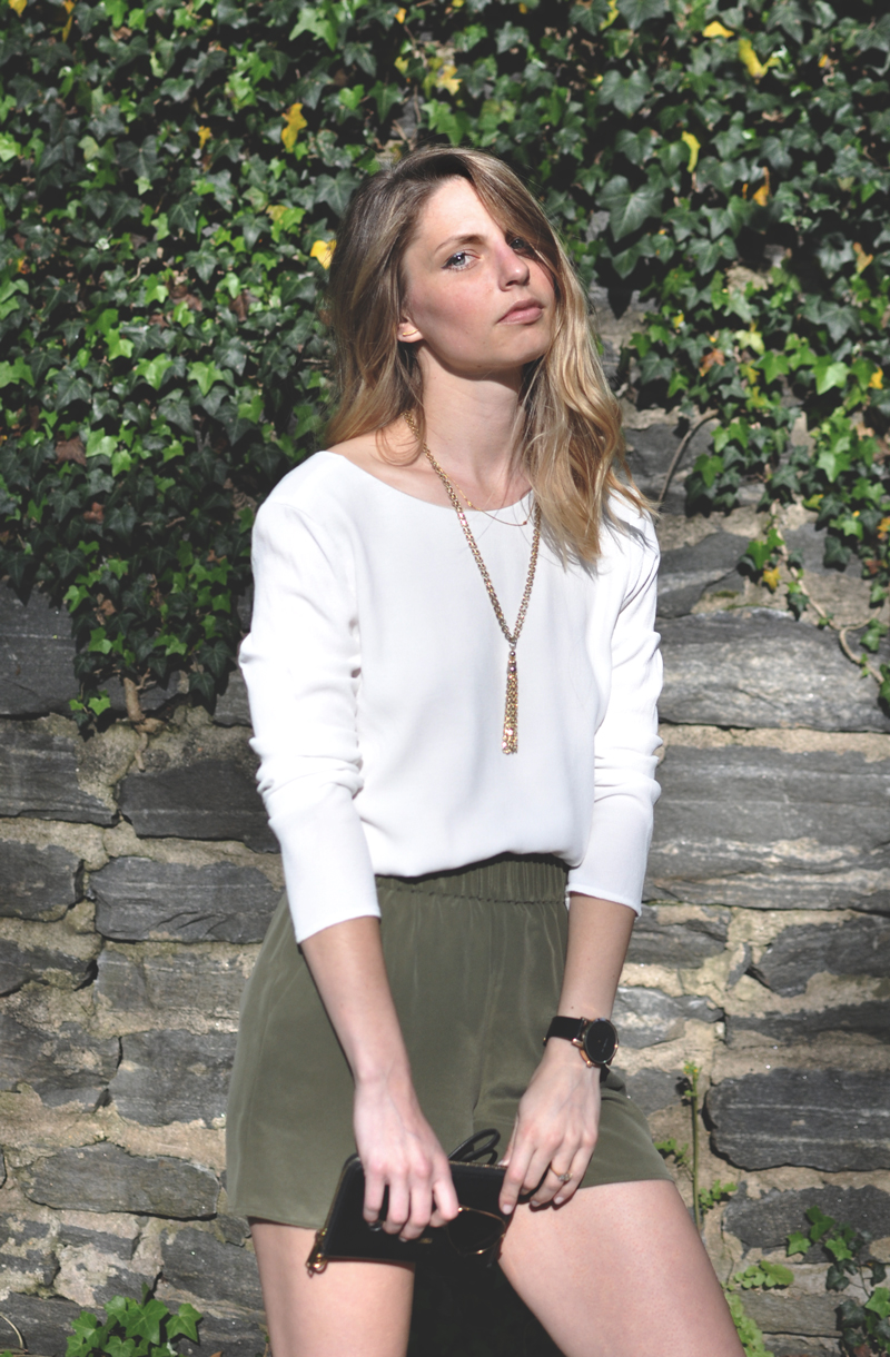 Stone-Cold-Fox-Seth-Blouse---Grana-Silk-Shorts-Olive---Review-Size-Fit-Information