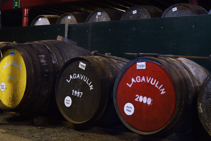 14-Lagavulin-Distillery-Whisky-Tour-Islay-Scotland---Lagavulin-18-year-23-year-and-34-year-aged-scotch-warehouse