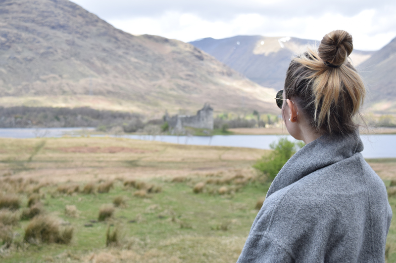3-Scottish-Highlands-Castle---Eileen-Fisher-Royal-Baby-Alpaca-Grey-Kimono-Coat---European-Honeymoon-Travel-Diary