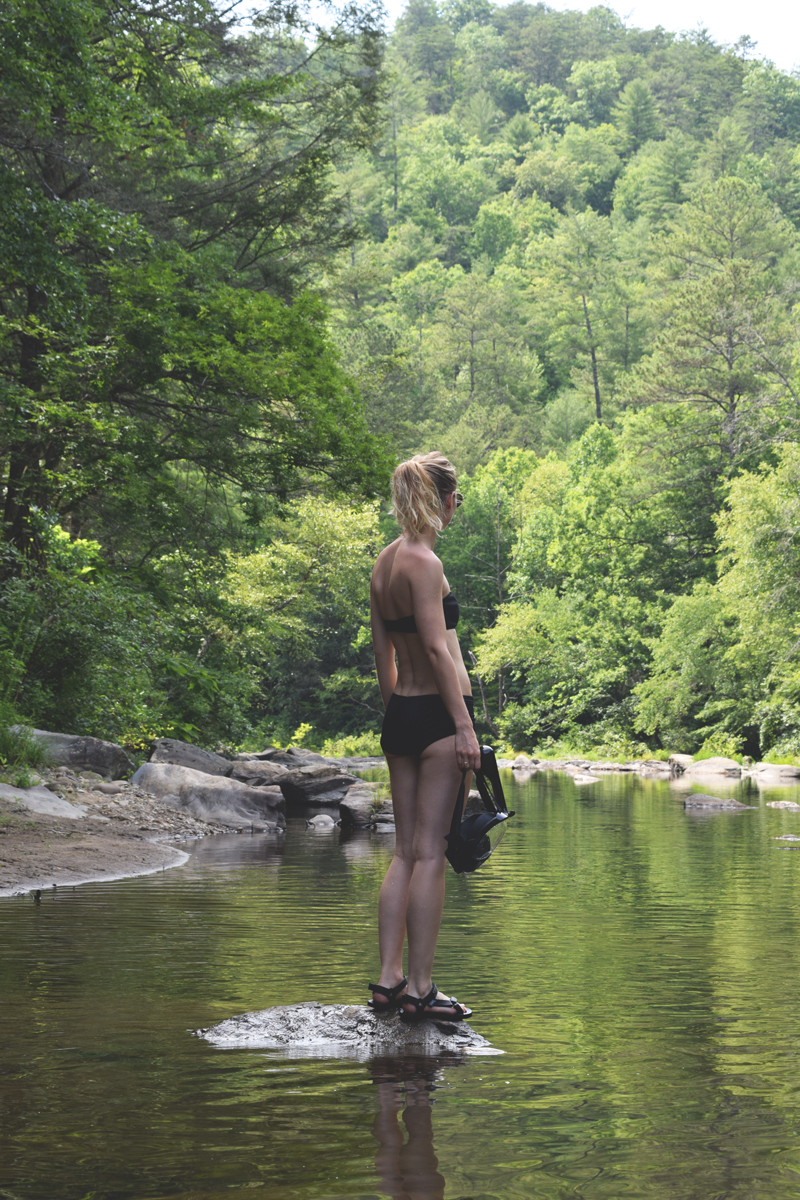 Snorkeling-on-the-Conasauga-River-in-Cherokee-National-Forest-Tennessee---Smarson-Full-Face-Snorkel-Review-from-Amazon-Prime-2