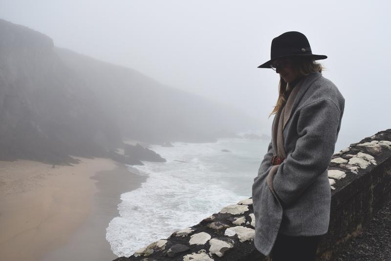 View-over-shore-seaside-coast-of-Dingle-Ireland-Wild-Atlantic-Way---Wearing-Eileen-Fisher-Alpaca-Kimono-Coat