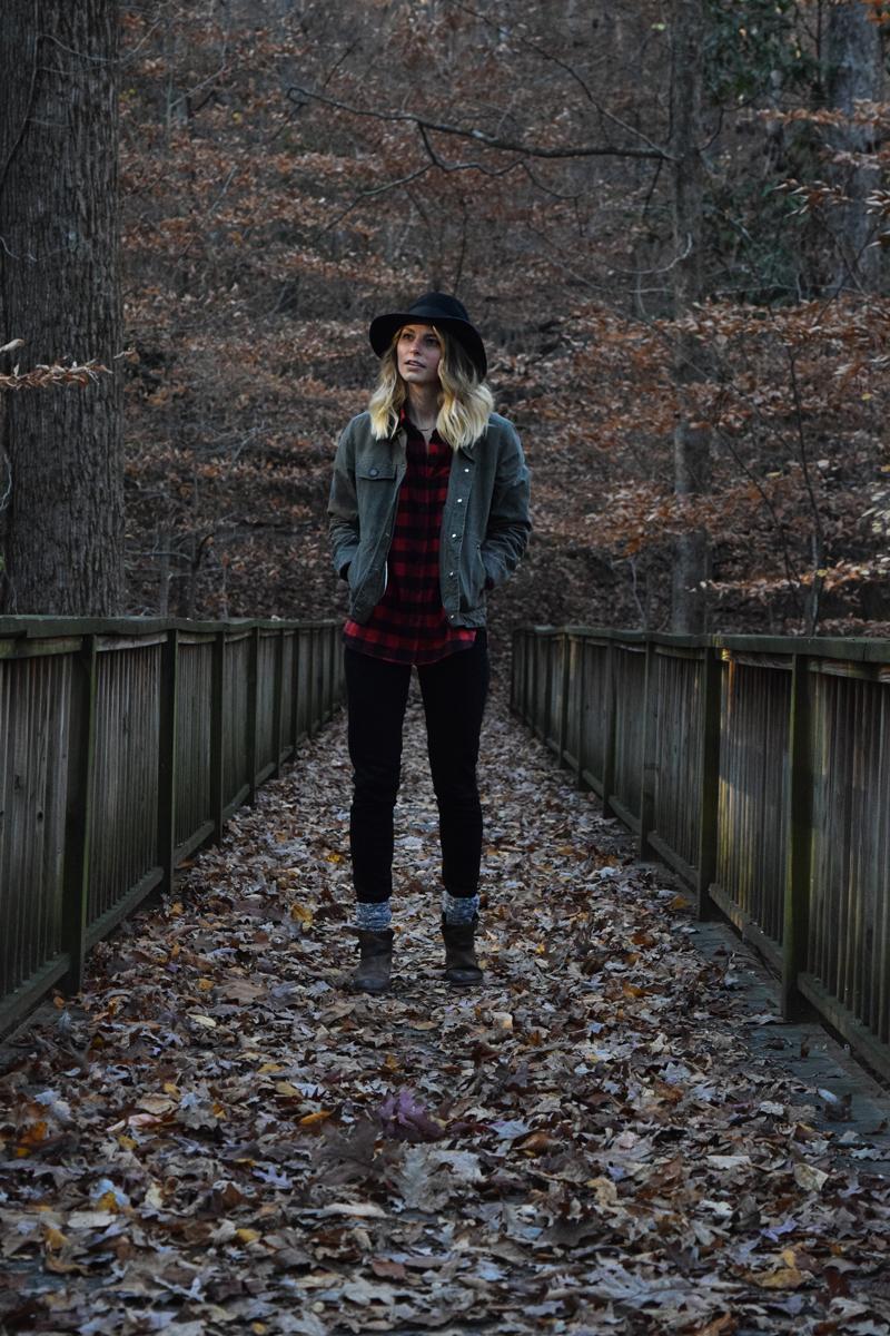 bridge-and-burn-spruce-field-jacket-review-hiking-at-lullwater-preserve-emory-atlanta-park
