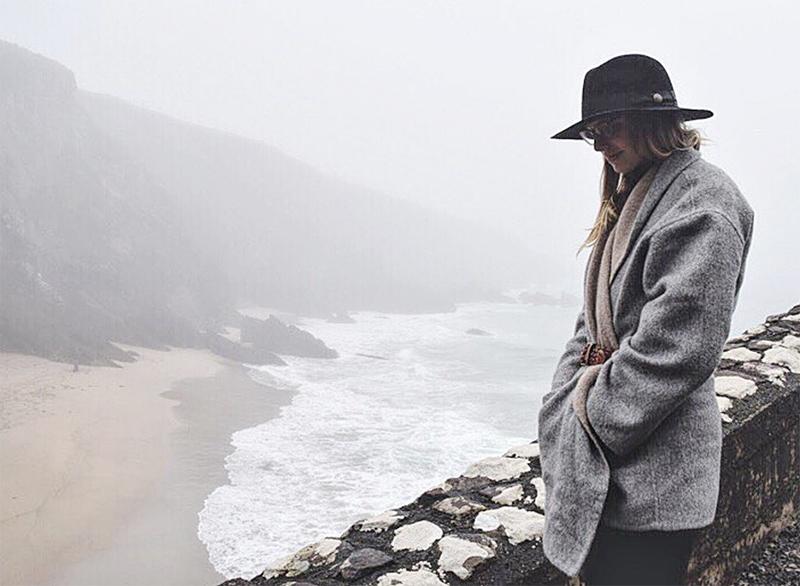 Eileen Fisher Alpaca Wool Coat Moonlight - sold out but Cuyana has a similar coat!