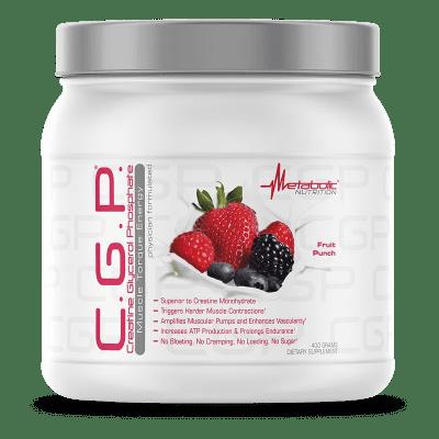C.G.P. Creatine Glycerol Phosphate fruit punch metabolic nutrition