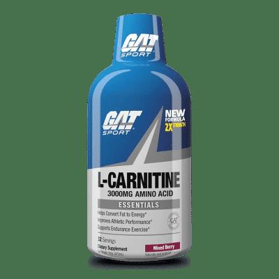 l-carnitine 3000mg amino acid mixed berry gat sport
