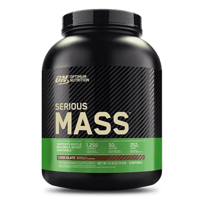serious mass 6 libras chocolate optimum nutrition