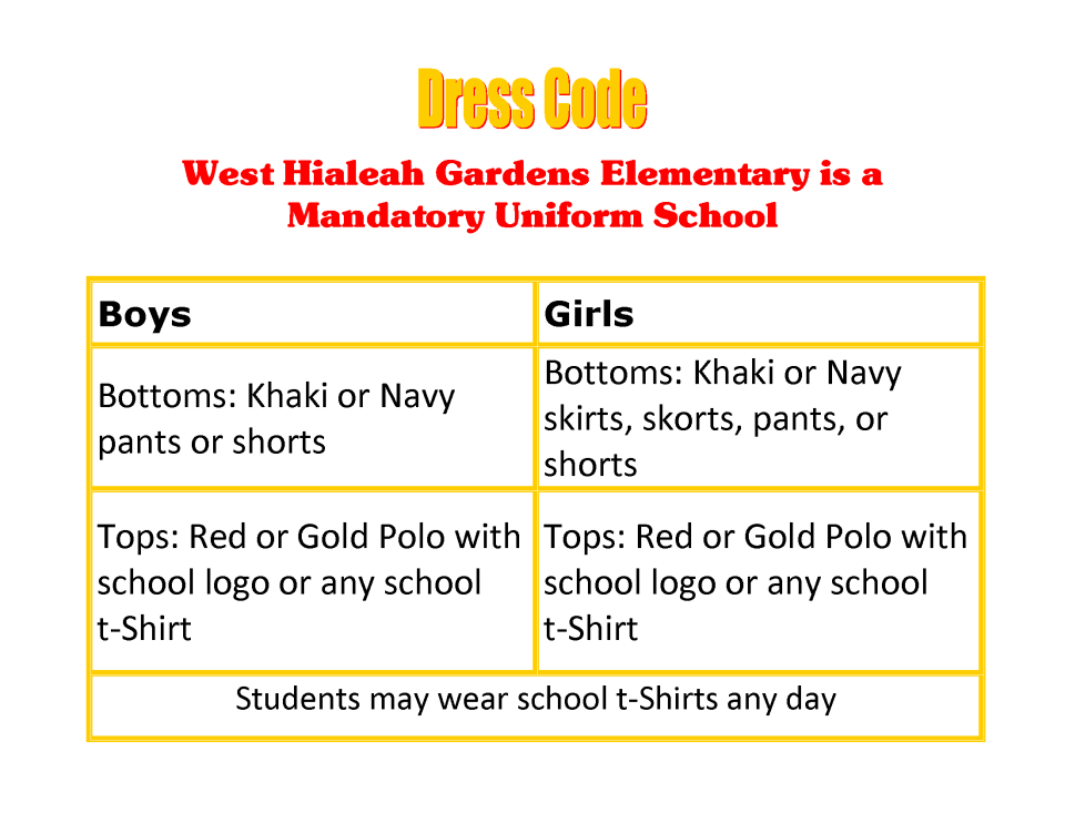 WHGES Dress Code NEW