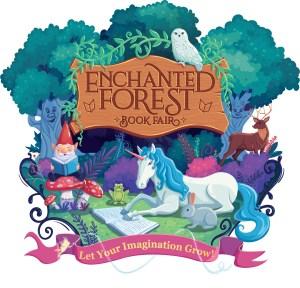 scholastic book fair enchanted forest logo