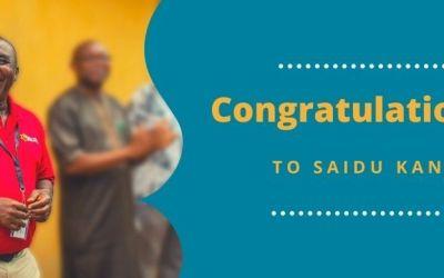 Saidu Kanu Honored in Freetown