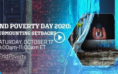 End Poverty Day 2020: Surmounting Setbacks