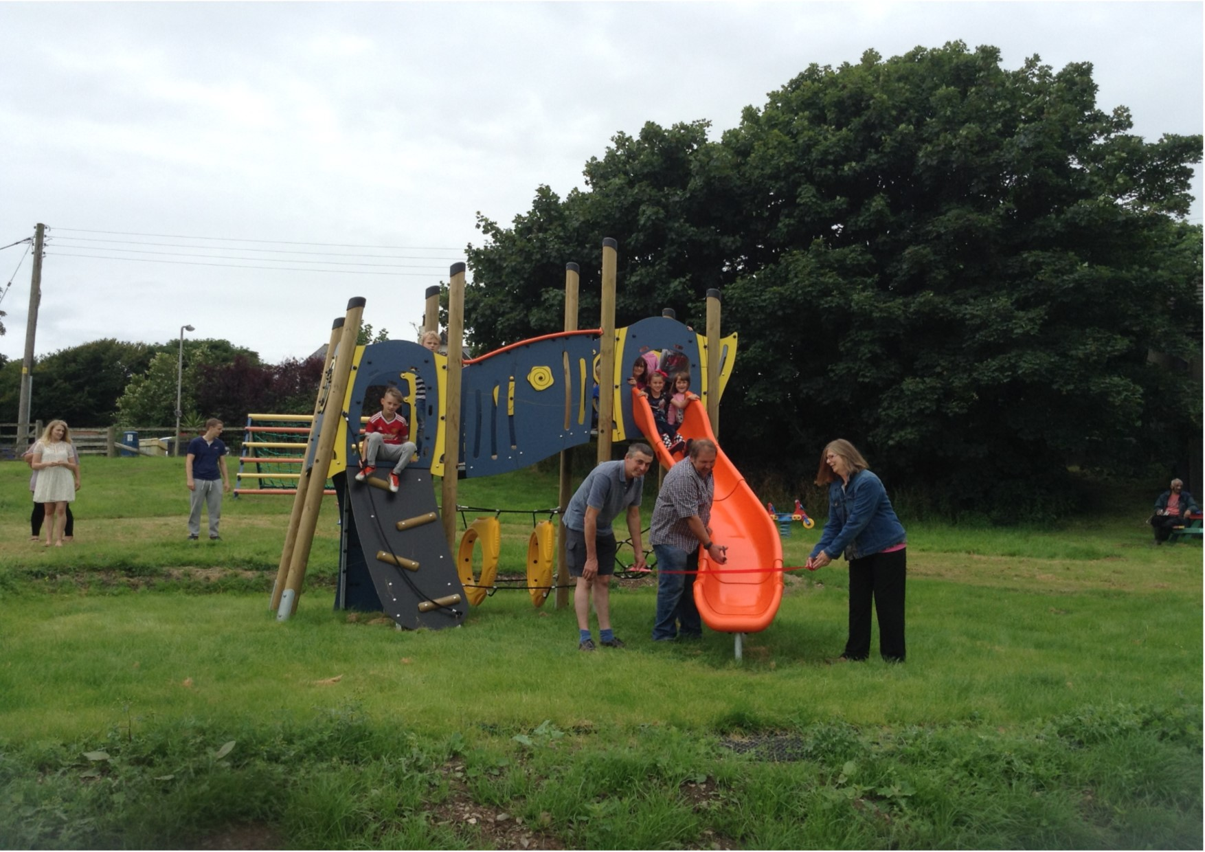 Image of The opening of the new play equipment at Silecroft