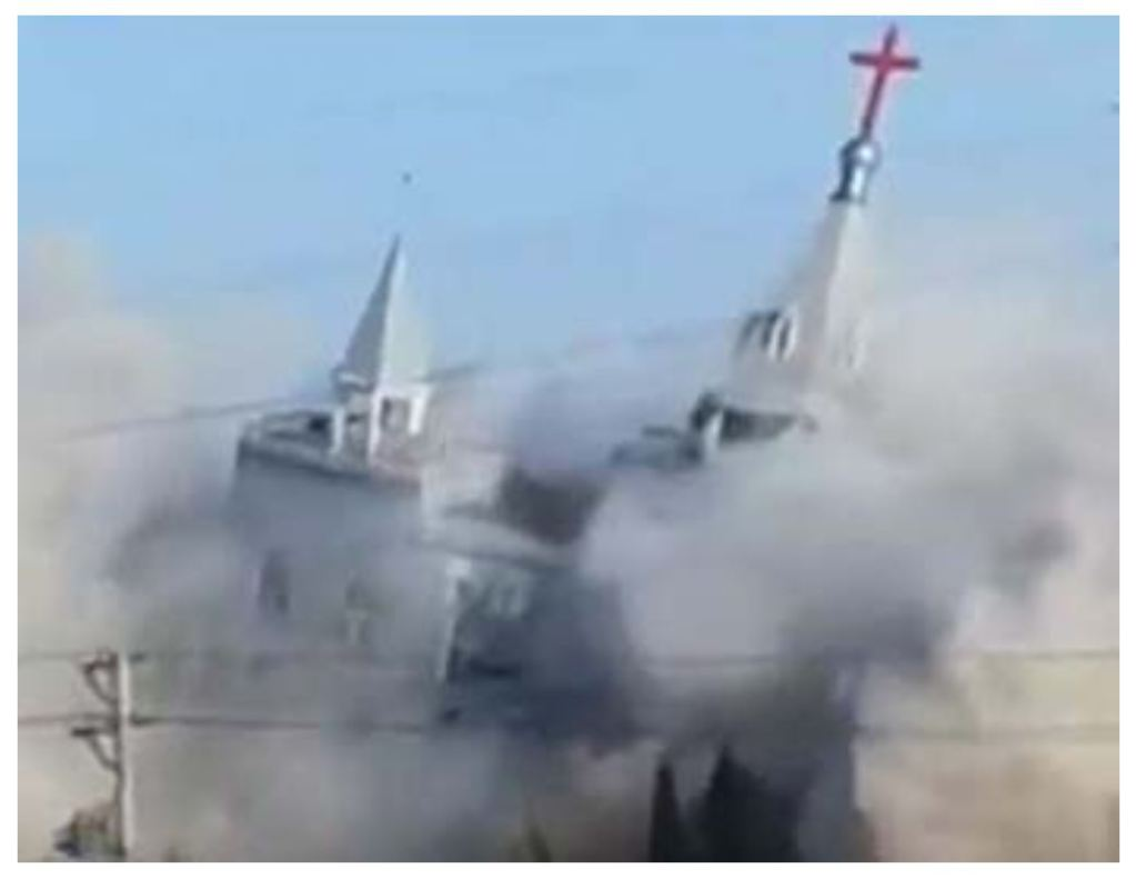 China bombs megachurch in drive to silence Christianity