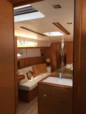 Jeanneau Sun Odyssey 389 Main Salon, View from Aft Stateroom