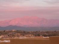 Sunset glow on Four Peaks AZ