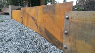 rolled steel retaining wall