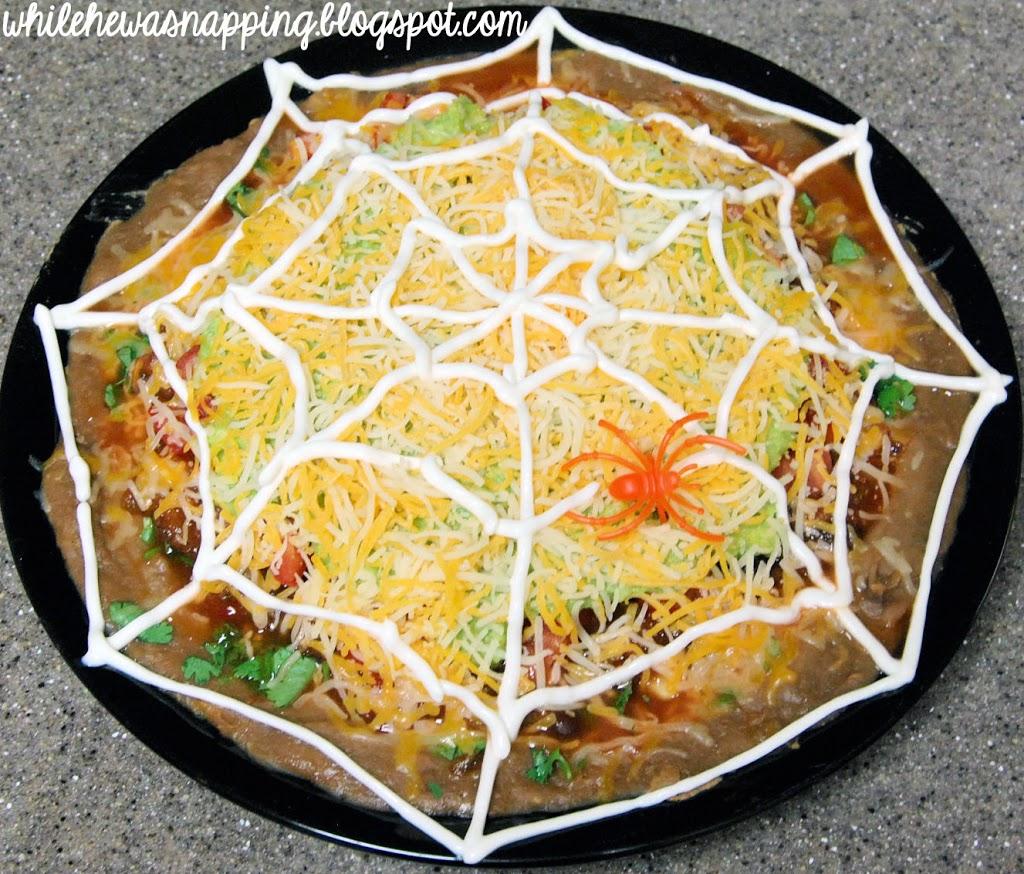 October Spooktacular Spiderweb Nachos