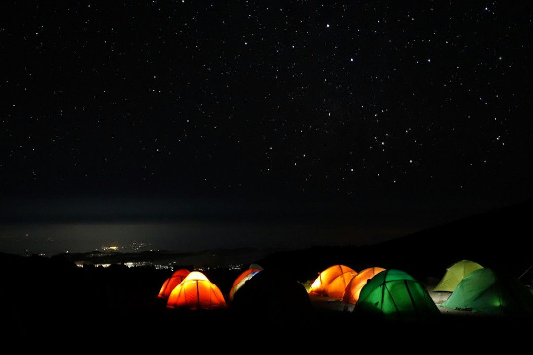 Camping at Mount Kenya-whileinafrica