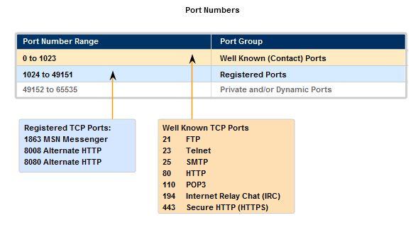 standard tcp ip port