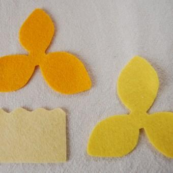 Free Springtime Craft Tutorial: Felt Daffodils